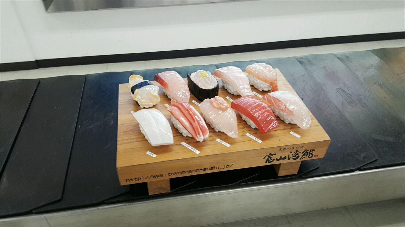 ターンテーブルの回転寿司1